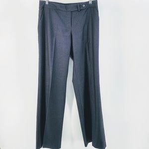 Calvin Klein Black Pinstripe Career Dress Pants